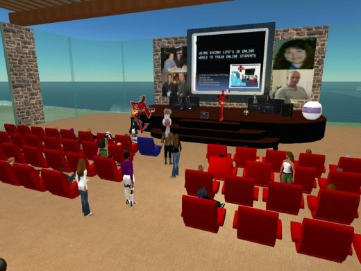 example of a classroom in Second Life
